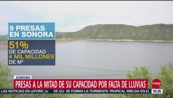 FOTO: Falta Lluvia Afecta Niveles Presas Sonora