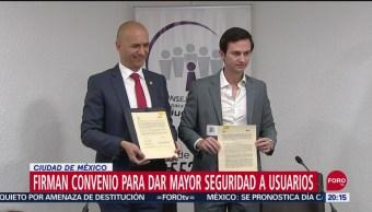 Foto: Firman Convenio Uber Mejorar Seguridad Conductores Usuarios 23 Septiembre 2019