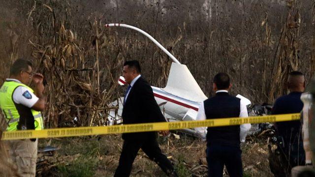 Foto: Restos del helicóptero accidentado de Martha Erika y Moreno Valle. Cuartoscuro