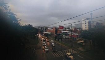 Lluvias en el puerto de Acapulco.