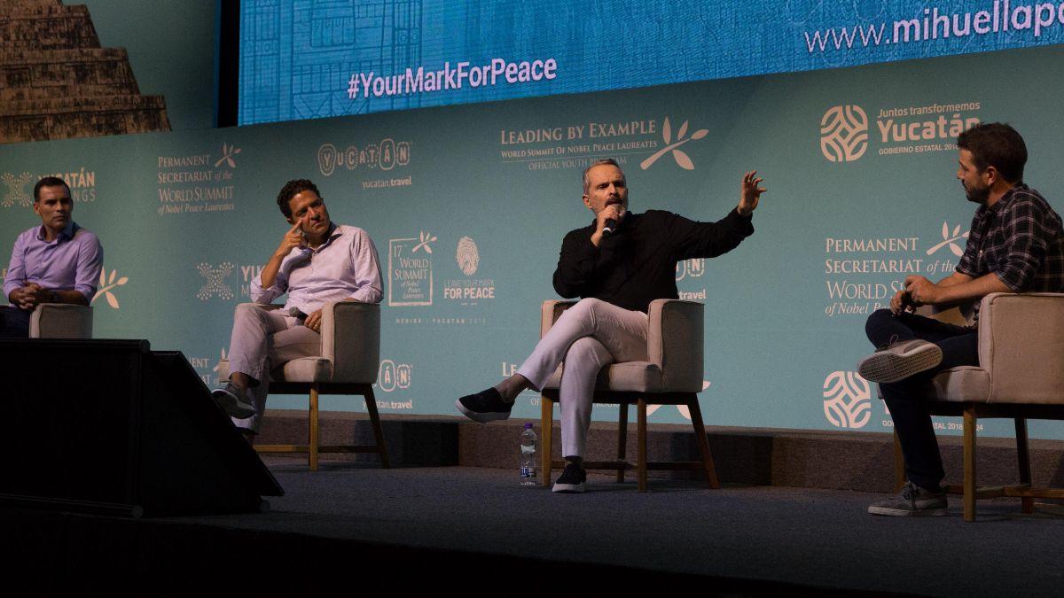 Foto: Cumbre Mundial de Premios Nobel de la Paz, en Mérida, Yucatán, México. Cuartoscuro