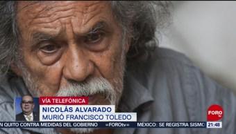 Foto: Francisco Toledo Símbolo Arte Oaxaqueño Muere 5 Septiembre 2019