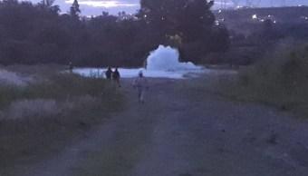 Localizan fuga de gas LP en zona despoblada de San Lorenzo Almecatla, Puebla