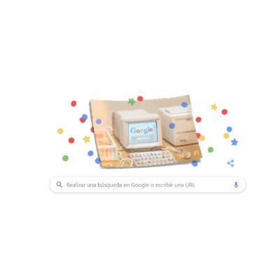 Google cumple 21 años y festeja con doodle