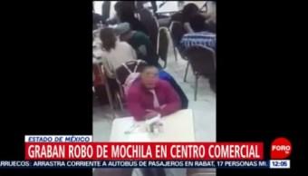 Graban robo de mochila en plaza comercial de Tecámac, Estado de México
