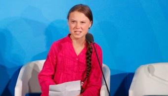 Foto: Activista Greta Thunberg recibe premio infantil a la paz, 15 de noviembre de 2019 (AP)