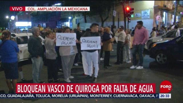 Foto: Habitantes Santa Fe Bloqueo Vasco De Quiroga 2 Septiembre 2019