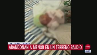 Hallan a bebé abandonada entre la maleza en Oaxaca
