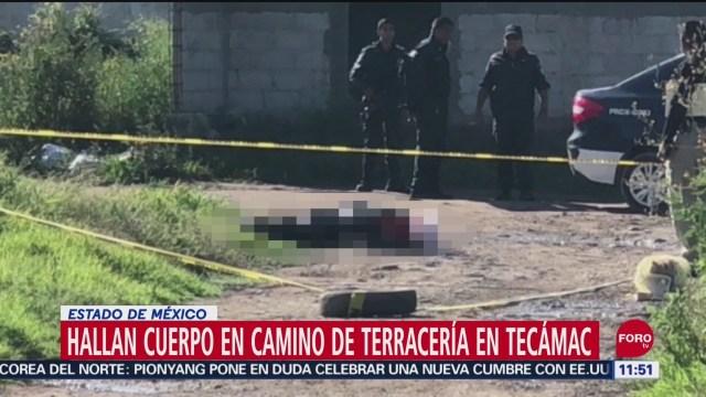 Foto: Hallan Cadáver Envuelto Cobijas Tecámac