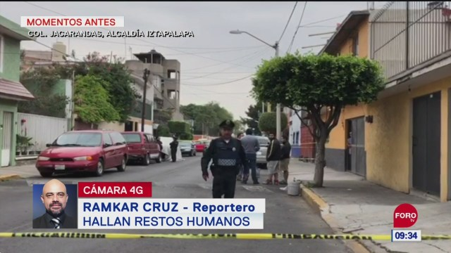 Hallan restos humanos en calles de Iztapalapa