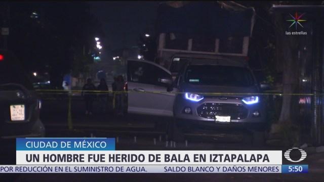 Hieren por disparo de arma de fuego a hombre en Iztapalapa