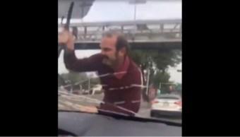 Foto: Hombre golpea auto de mujer, 12 de septiembre de 2019, Ciudad de México