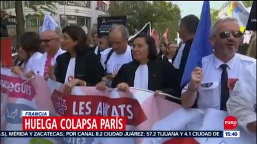 FOTO: Huelga colapsa vialidades en París, 16 septiembre 2019
