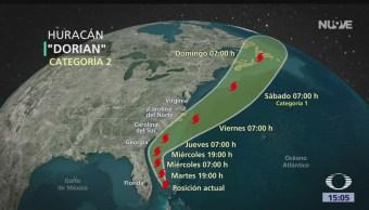 FOTO: Huracán Dorian Amenaza Costa Florida 3 de septiembre de 2019