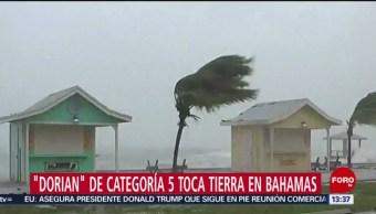 FOTO: Huracán 'Dorian' toca tierra en las Bahamas, 1 septiembre 2019
