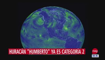 Huracán 'Humberto' alcanza categoría 2
