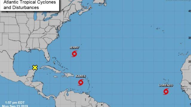ormenta tropical Lorenzo.
