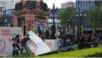 Foto: Identifican a autores de actos vandálicos en marcha por Ayotzinapa, 29 de septiembre de 2019 (GRACIELA LÓPEZ /CUARTOSCURO.COM)