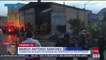 Foto: Incendio Cuautepec Hoy Consume Bodega Desperdicios Industriales 27 Septiembre 2019