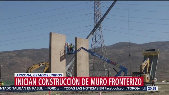 Foto: Construcción Muro Fronterizo Arizona Estados Unidos 5 Septiembre 2019