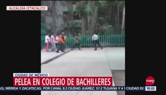FOTO: Video Intentan Golpear Guardia Seguridad Colegio Bachilleres