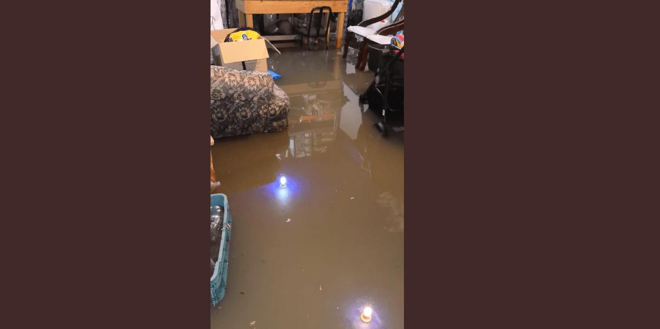 FOTO Cuautlancingo, Puebla, registra inundaciones tras intensas lluvias (Protección Civil Puebla)