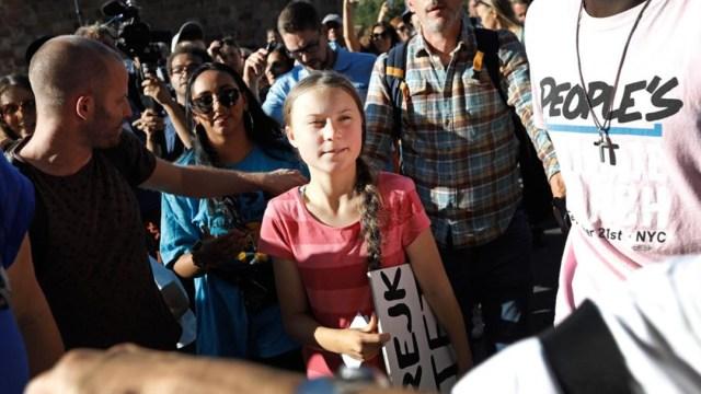 Foto: Tras escuchar a los jóvenes ambientalistas, Guterres reconoció sus acciones y su liderazgo ante la crisis climática, que están despertando el interés de la población en general, 21 de septiembre de 2019 (EFE)