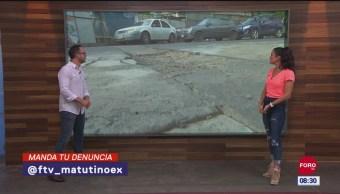 #LaCámaraUrbana en Expreso: Calles en mal estado en la CDMX