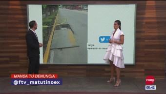 FOTO: #LaCámaraUrbana en Expreso: Coladera en mal estado en calles de la CDMX, 16 septiembre 2019