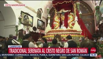 FOTO: Llevan serenata al Cristo Negro en Campeche, 14 septiembre 2019