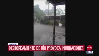Foto: Lluvias Provocan Desbordamiento Río Chalaquita Chiapas