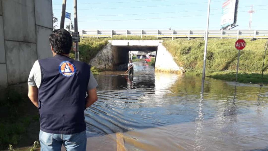 FOTO También hubo lluvia fuerte en Coronango, San Pedro Cholula y San Miguel Xoxotla (Protección Civil Puebla)