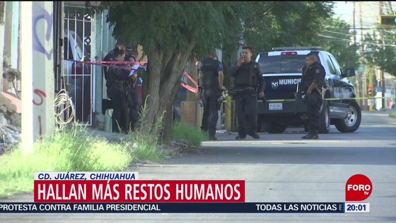 FOTO: Localizan cinco cuerpos desmembrados en Ciudad Juárez, 7 septiembre 2019