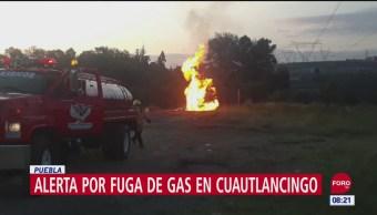 FOTO:Localizan fuga de gas LP en San Lorenzo Almecatla, Puebla, 16 septiembre 2019