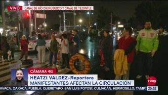 Foto: Manifestantes Bloquean Río Churubusco Y Canal De Tezontle 20 Septiembre 2019
