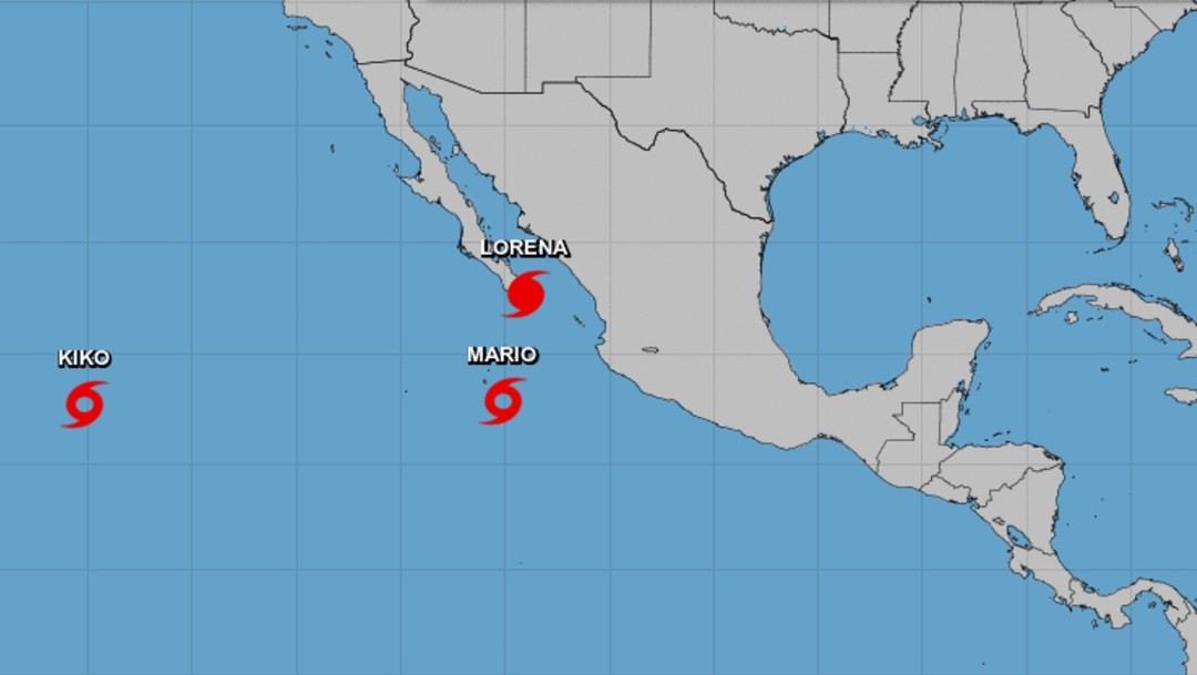Foto: Mapa de tormenta Mario y huracán Lorena, 20 de septiembre de 2019, México