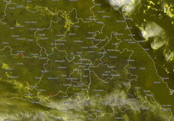 Foto: La imagen de satélite muestra cielo mayormente despejado en el centro del país, 1 septiembreE 2019