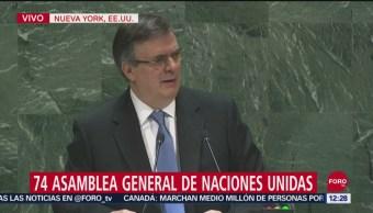 FOTO: Marcelo Ebrard participa en la 74 Asamblea General de Naciones Unidas, 28 septiembre 2019
