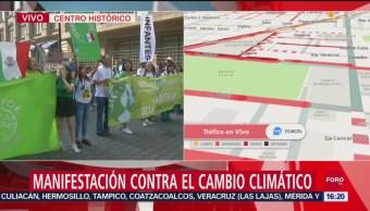 FOTO: Marcha Contra Cambio Climático Llega Zócalo