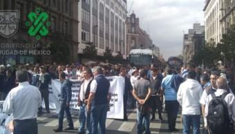 Foto Marcha de transportistas llega al Zócalo CDMX 3 septiembre 2019