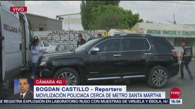 FOTO: Matan Automovilista Cerca Metro Santa Martha CDMX,