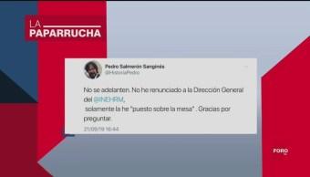 Foto: Pedro Salmeron Renuncia Inherm AMLO 23 Septiembre 2019