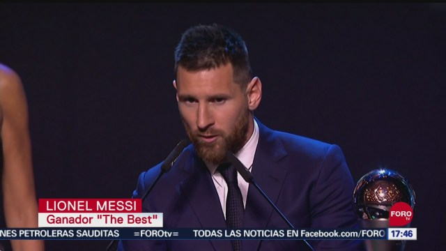 FOTO: Messi Mejor Jugador FIFA 2019