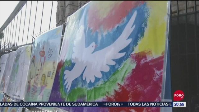 Foto: México Exhibición Colores Por La Paz Roma Italia 20 Septiembre 2019
