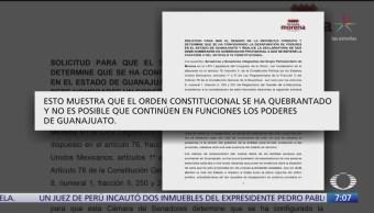 Morena pedirán se declare la desaparición de poderes en Guanajuato y Tamaulipas