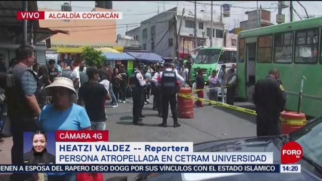Foto: Muere mujer atropellada Cetram Universidad