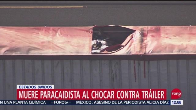 Foto: Muere Paracaidista Estrellarse Contra Tráiler California