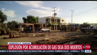 Mueren dos personas por explosión de gas en Hermosillo, Sonora