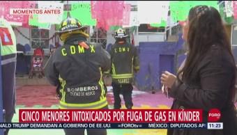 Niños resultan intoxicados por fuga de gas en kínder de la GAM