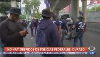 No hay despidos de policías federales: Durazo